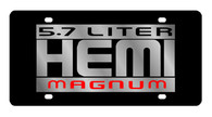 Dodge 5.7 Liter HEMI Magnum License Plate - 2428N-1
