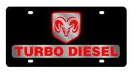 Dodge Ram Turbo Diesel License Plate - 2429-1