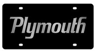 Dodge Plymouth License Plate - 2436-1