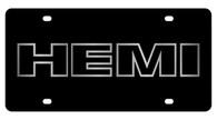 HEMI outline License Plate - 2466-1