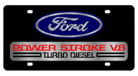 Ford Power Stroke V8 License Plate - 2508-1