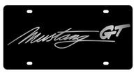 Mustang Script License Plate - 2525GT-1