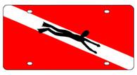 Diver Down License Plate - 2994D-1