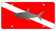 Diver Down with Shark - 2994S-1
