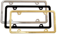 Blank License Plate Frame - Black - 0413