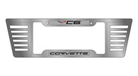 Corvette C6 Billet Style Rear Louver Frame with Epoxy Inserts - 4303-LW-1