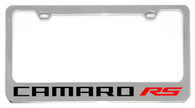 Cheverolet Camaro RS (Red) License Plate Frame - 5305NWO-RSR-BK
