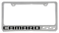 Cheverolet Camaro SS (WHITE) License Plate Frame - 5305NWO-SSR-BK