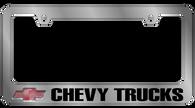 Chevy Trucks License Plate Frame - 5308LW-BK