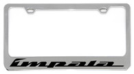 Cheverolet Impala License Plate Frame - 5312WO-BK
