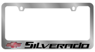 Cheverolet Silverado License Plate Frame - 5313LW-BK