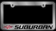 Cheverolet Suburban License Plate Frame - 5315LW-BK