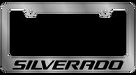 Cheverolet Silverado License Plate Frame - 5319WO-BK