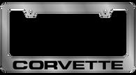 Corvette License Plate Frame - 5354WO-BK