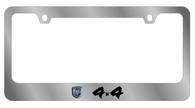 4x4 License Plate Frame - 5410LW-BK