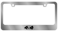 4x4 License Plate Frame - 5410WO-BK