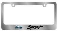 Jeep Sport License Plate Frame - 5444LW-BK