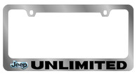 Jeep Unlimited License Plate Frame - 5448LW-BK