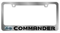 Jeep Commander License Plate Frame - 5480LW-BK