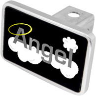 Angel word with clouds & halo Hitch Cover - 8942XL-1