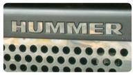 Hummer H3 - Front Bumper 'HUMMER' Letters - 9505-UC