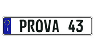 Authentic EEC Italy - PROVA European License Plate (Random) - E9032