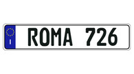 Authentic EEC Italy - ROMA European License Plate (Random) - E9033