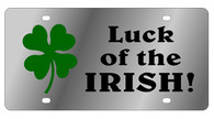 Luck of the Irish Novelty License Plate - LS1006