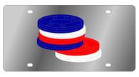 Poker Chips Novelty License Plate - LS1011