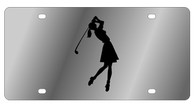 Golf Woman Novelty License Plate - LS1018