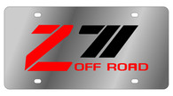 Chevrolet Z-71 Offroad Old License Plate - 1334-1
