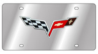 Corvette C6 Flags License Plate - 1358-1OEM