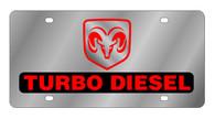 Dodge Ram Turbo Diesel License Plate - 1429-1