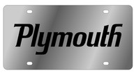 Dodge Plymouth License Plate - 1436-1