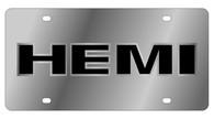 HEMI outline License Plate - 1466-1