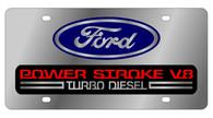 Ford Power Stroke V8 License Plate - 1508-1