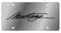 Mustang Script License Plate - 1525-1