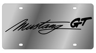 Mustang Script License Plate - 1525GT-1