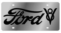 Ford V8 License Plate - 1557-1