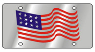 American Flag Waving License Plate - 1902-1