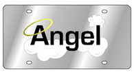 Angel word with clouds & halo License Plate - 1942-1