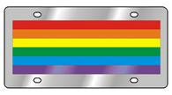 Gay Pride Flag Novelty License Plate - 1957-1