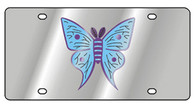 Butterfly Multicolor Novelty License Plate - 1960-1