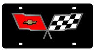 Corvette C3 Flags License Plate - 2352-1