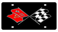 Corvette C2 Nostalgia Flags License Plate - 2353-1