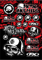 Metal Mulisha Graphic Sticker Sheet #1