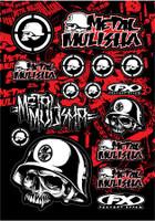 Metal Mulisha Graphic Sticker Sheet #1
