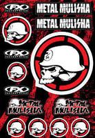 Metal Mulisha Graphic Sticker Sheet #2