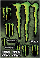 XL Monster Energy Graphic Sticker Sheet 2014