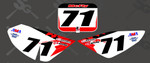 Custom # Plate Graphics CRF Style- Name and # on front and side plates